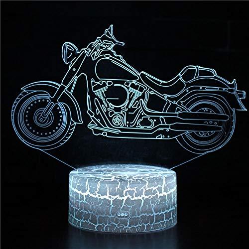 Moto motorrad farbe veränderbar led 3d illusion visuelle nachtlicht kreative schlafzimmer dekoration licht neuheit lampe geschenk souvenirusb wiederaufladbare guy jungen mädchen präsentieren energiesp