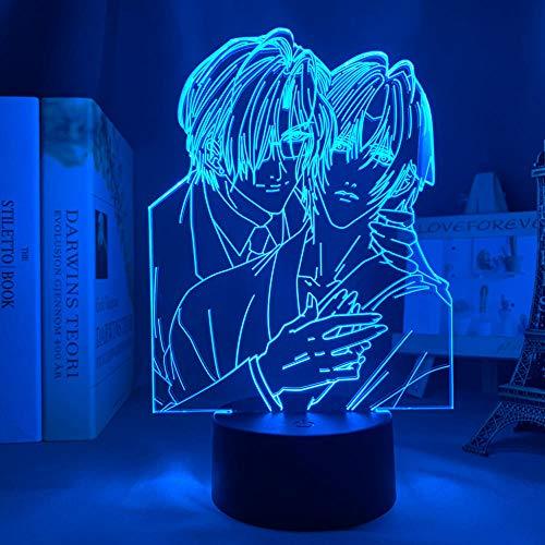 Descendants of Darkness 3D Illusione Lampada Giapponese Anime Luce 16 Colori con Remote Desk lampada per il regalo di Natale