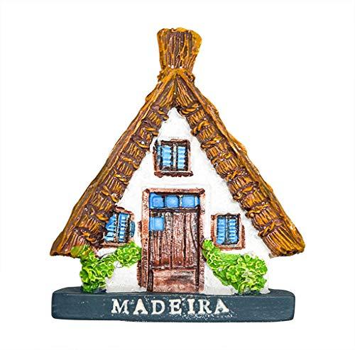 zamonji Madeira Portugal 3D Harz Souvenir Kühlschrankmagnet Reise Aufkleber Tourist Geschenk, Home & Küche Dekoration