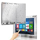 Haocrown 21.5-inch Bathroom Waterproof Mirror TV Touchscreen Smart Television Full-HD LED with Android 9.0 System Built-in ATSC HDTV Tuner Wi-Fi Bluetooth Waterproof Speakers(2021 Model)