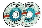 DISCHI (MOLE) DA TAGLIO E DA SBAVO PER ACCIAIO INOX E LEGATI/STAINLESS AND ALLOYED STEEL CUTTING AND GRINDING DISCS (CONFEZIONE DA 25 - DISCO DA TAGLIO INOX 115X3.2X22)