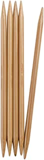 ChiaoGoo Double Point 6 inch (15cm) Bamboo Dark Patina Knitting Needle Size US 13 (9mm) 1036-13