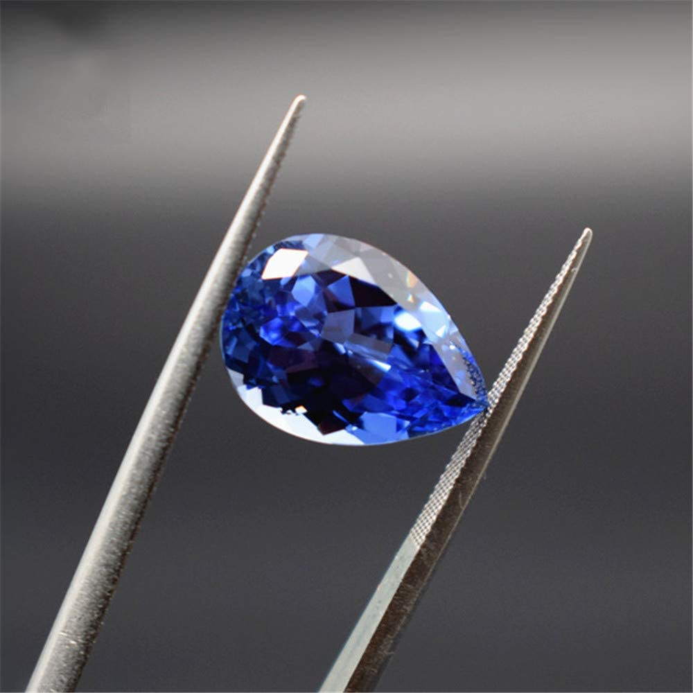 Grade Spring new work AAA Cutting Cultured Las Vegas Mall Sapphire Shaped Faceted Pear Gemstone