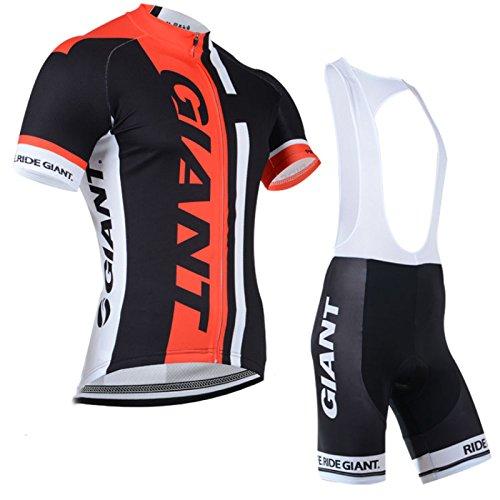 fa9ac28c0 2014 Outdoor Sports Pro Team Men s Short Sleeve Giant Cycling Jersey and  Bib Shorts Set Black