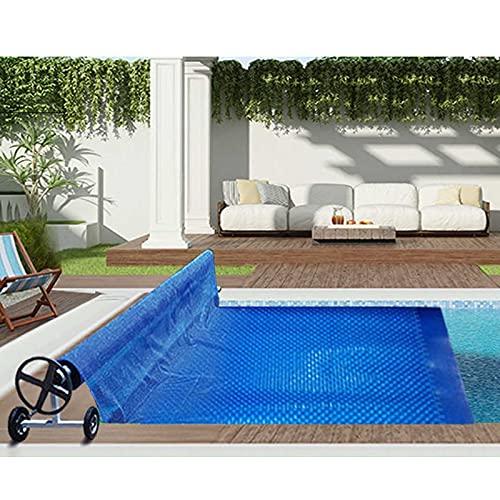 JLXJ Pool Solarplane Poolheizung Rechteckige Poolabdeckung Blau für Aufblasbare Pools/Rahmenpools/Aufstellpools, Blase Solarheizung Folie Schwimmende Plane mit Ösen (Size : 3m x 7m(10ft×23ft))