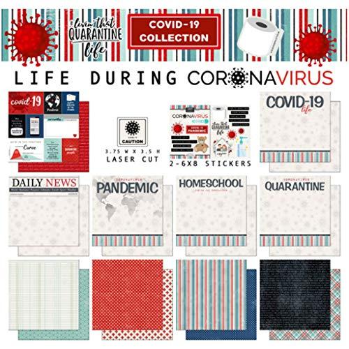 Scrapbook Customs Life During Coronavirus Quarantine Life Scrapbook 12' x 12' Kit