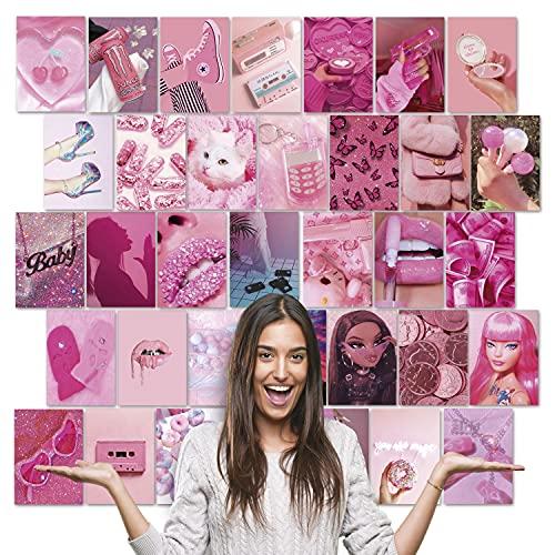 Fotos Pared Decoracion Aesthetic - 100 fotos para decorar tu hogar habitación paredes dormitorio oficina juvenil - Imágenes decorativas vinilo de pared color pink rosa - Estilo tumblr estético 10x15cm