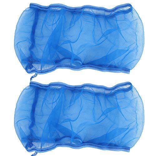 HERCHR 2 Piezas Cubierta de Jaula de pájaros, Jaula de pájaros recogedor de Semillas Protector de Semillas de Malla de Nailon Protector de Falda de Jaula de Loro Accesorios universales(Azul)