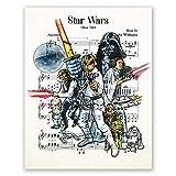 AtoZStudio Star Wars Poster // Musikblatt New Hope Movie