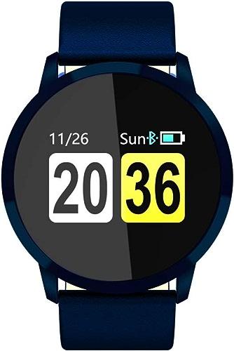 AGWa Tracker d'activité, montre de suivi sportif, bracelet podomètre à écran couleur étanche avec bracelet anti-perte pour Android et Ios, noir,Noir