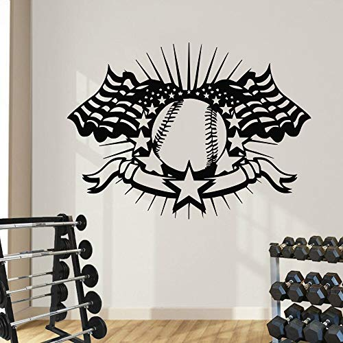 yaonuli Alle Amerikanischen Spiele Basketball Emblem Junge Kinderzimmer Spezielle Dekorative Wandaufkleber Vinyl Wandaufkleber 126x158 cm