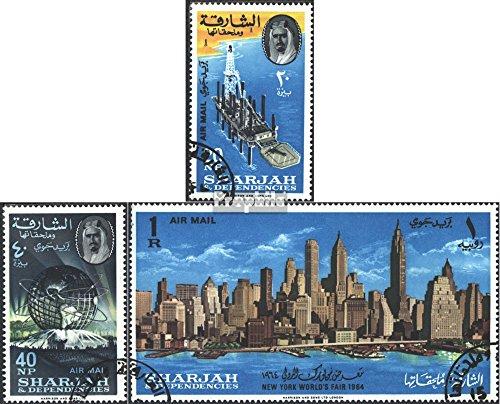Sharjah 87A-89A (fullständigt utgåva) 1964 Världsutställningen 1964/65 (Frimärken för samlare)