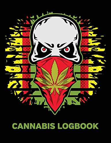 Cannabis Logbook: Marijuana Strain Review Notebook for Medial and Recreational Use Skull