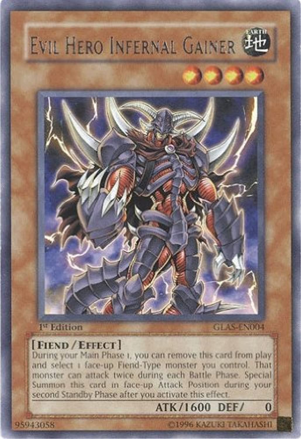 YuGiOh  Gladiator's Assault 1st Edition   GLASEN004  Evil Hero Infernal Gai...