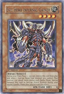 YuGiOh! Gladiator's Assault 1st Edition # GLAS-EN004 - Evil Hero Infernal Gainer - Rare - Single YuGiOh! Card in Protective Sleeve
