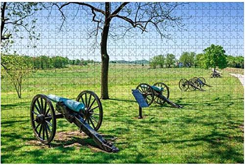 American Civil war Confederate Battle Flag Cannon and Limber Rompecabezas grandes de 500 piezas para adultos Juguete educativo para adultos Niños Juego de rompecabezas grande Juguetes Gift-PUZZLE1