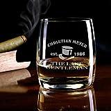 Herz & Heim® Whiskeyglas (Bohemia) mit kostenloser Gravur - Last Gentleman - tolle Geschenkidee für Ihren Lieblingsmenschen - 4