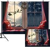 DULUDA 9X6FT Christmas Backdrop Winter Snowflake Pillow...