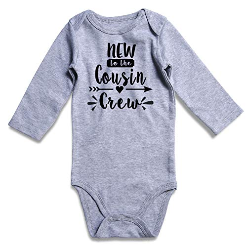 TUONROAD Baby Bodysuit New to The Cousin Crew Onesies Romper for...