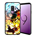 |for Galaxy S9 Plus| Ultra-Thin Anti-Scratch Tempered Glass Phone Case, Japanese Game Animation My Hero Academia Design 012 Galaxy S9 Plus Cover for Teens and Adults