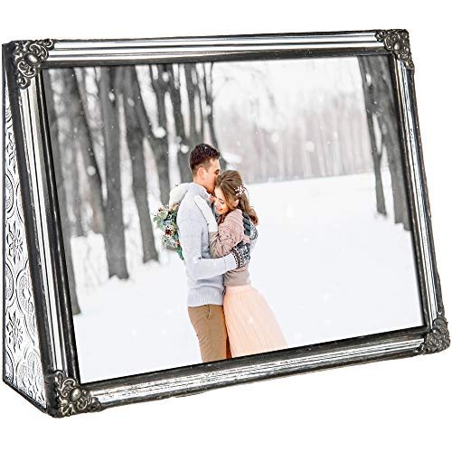 5x7 Picture Frame Clear Glass Wedding Photo Frame Family Anniversary Baby Keepsake Gift Vintage Home D