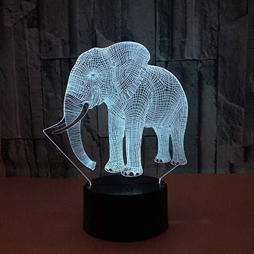 SkyHY224 Lámpara de escritorio Lámpara de mesa elefante LED colorido degradado 3D lámpara de mesa tridimensional táctil control remoto USB luz de noche escritorio junto a la cama decoración creativa a