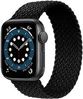 JONWIN Geflochtenes Solo Loop Kompatibel mit Apple Watch Armband,Elastic Nylon Sport Ersatzband für iWatch Serie...