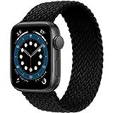 JONWIN Geflochtenes Solo Loop Kompatibel mit Apple Watch Armband,Elastic Nylon Sport Ersatzband für...