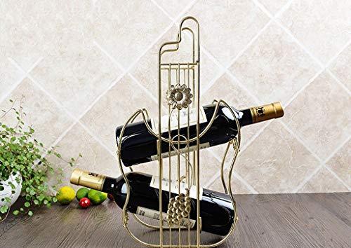 Estante para Vino s Estante para Vino Tinto Creativo Estante para Vino Europeo con Dos Cargas Decoración Soporte para Botella con Forma de violín Estante para Vino Independiente s (Color: #