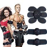 masomrun elettrostimolatore muscolare, ems suscolo addominale, addominali attrezzi abs, addome/braccio/gambe/waist/glutei massaggi-attrezzi, usb ricaricabile-uomo/donna