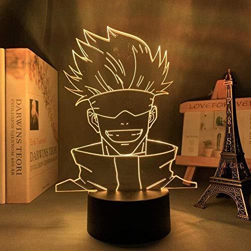 3D Illusion Lamp -Anime My Hero Academia,3D LED Luz Nocturna para Niños, 7 Colores Cambian con Control Remoto, Regalos para Niños Niñas