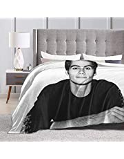 Mjuk sängfilt i flanell, mjuka överkast för barn, tonåringar och vuxna. Sovrumsdekor Dylan O'Brien ultramjuk mikrofleece-filt soffa 127x102 cm.