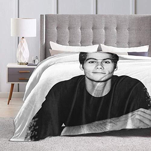 Weiche Flanell-Bettdecke für Kinder, Teenager, Erwachsene, Schlafzimmer, Dekor, Dylan O'Brien, ultraweiche Micro-Fleece-Decke, Couch, 203 x 152 cm