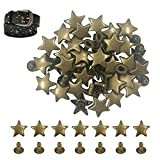120 Sets 12 MM/0.48 Inch Bronze Star Rivets for Leather Star Rivet Studs Garment Rivets Leather Rivets Studs and Spikes for Leather Craft Clothing Bags