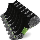 WANDER Men's Athletic Running Socks 7 Pairs Thick Cushion Ankle Socks for Men Sport Low Cut Socks 6-9/10-12/12-14