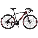 Bicicleta para Joven Bicicletas De Carretera Bicicleta MTB de la montaña de Adulto Bici Ruta Bicicletas for Hombres y Mujeres 27.5in Ruedas 21 Velocidad Doble Freno de Disco (Color : Red)