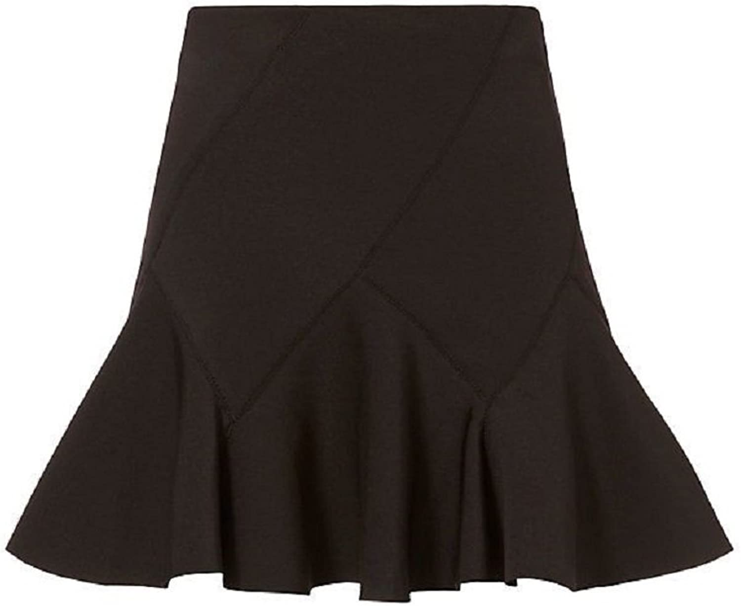 Derek Lam 10 Crosby Black Neoprene Skirt 8