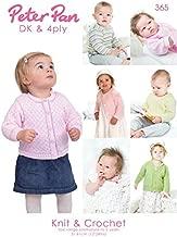 Peter Pan Baby Book 365 Knitting & Crochet Pattern Book 4 Ply, DK