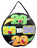 fun gripper 24' Inflatable Valcro Dart Ball Toss & Target Game w/ 3-2' Balls