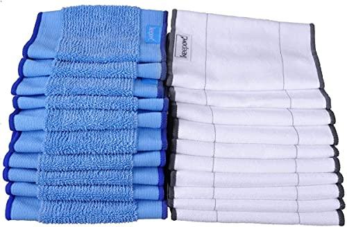 KEEPOW Braava 390T Panni Microfibra Lavabili Wet e Dry per Aspirapolvere Robotico, 10 Panni bagnati + 10 Panni Asciutti, 20 Pacchi