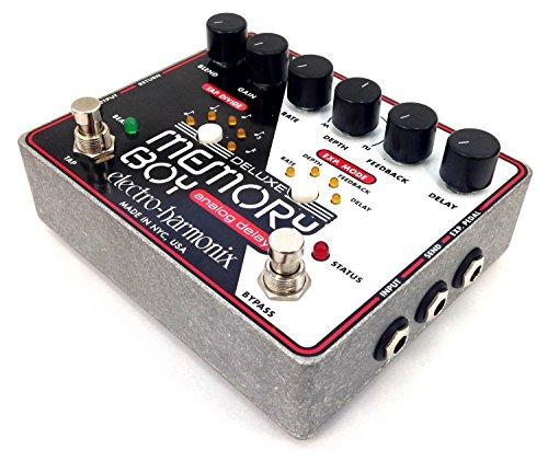 Electro Harmonix Deluxe Memory Boy Deluxe Memory Boy Pedal - Pedal de efecto eco/delay/reverb para guitarra, color plateado
