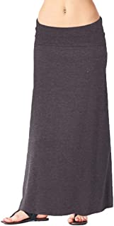 Womens Casual Long Convertible Print Maxi Skirt Plus Size - Made in USA