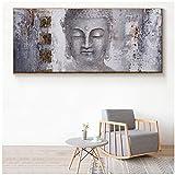 Grande taille de Bouddha Zen - Tableau mural sur toile - Peinture à l'huile - Pour salon - Décoration de la maison, Sans cadre, 50x150cm(19.7'x59.1')