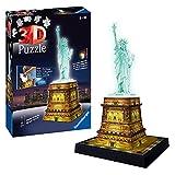 Ravensburger - Puzzle Building 3D Night Edition: Estatua de la Libertad (12596) , color, modelo surtido