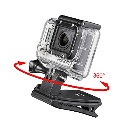 Mantona 20553 - Pinza de fijación 360 para GoPro