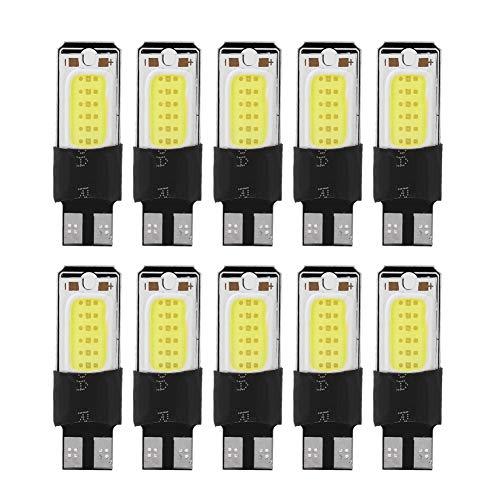 T10 LED-Leuchtmittel, 10 Stück, W5W COB, Auto-LED-Indikatorbirne für Breite, Leselicht, Kennzeichenbeleuchtung, Karte, Kuppelleuchte, Türbeleuchtung, Seitenmarkierungsleuchten, Drehlichter