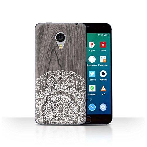 Stuff4Phone Case/Cover/Skin/mzumx4p/fine Lace Wood Collection Bois Rustique