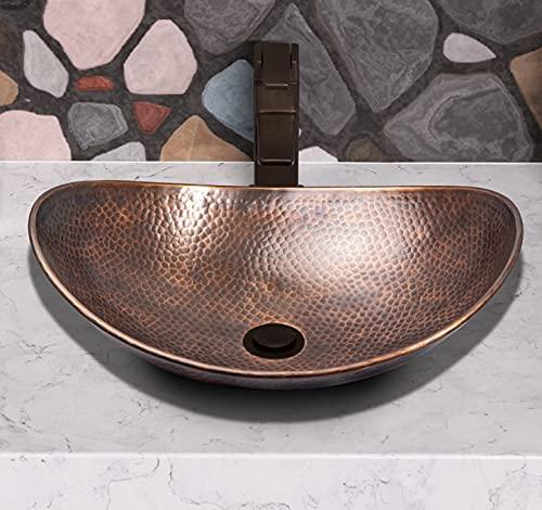 Monarch Abode 17086 Pure Copper Hand Hammered Harbor Vessel Sink,