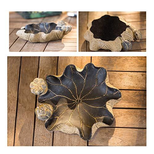 XYQCPJ Lotusförmiger Aschenbecher,Obstteller Chinesische Retro Delicate Carving Kreative Handarbeit Eingangsschuhschrank Dekoration Lebender Tisch Teetisch Antike Dekorationen