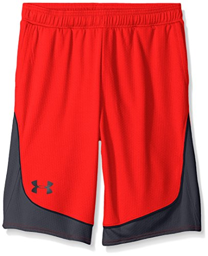 Under Armour Girls' Pop A Shot Basketball Short, Rocket Red/Black, Youth X-Small